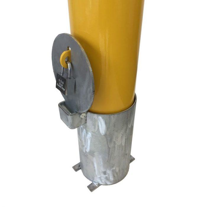 Safety Yellow Removable Bollard - 140mmx1200mm