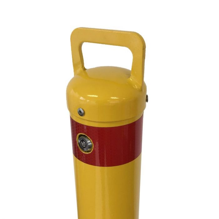 Safety yellow removable bollard - 90mm x 900mm