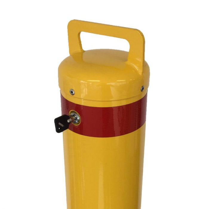 Safety yellow removable bollard - 140mm x 1200mm