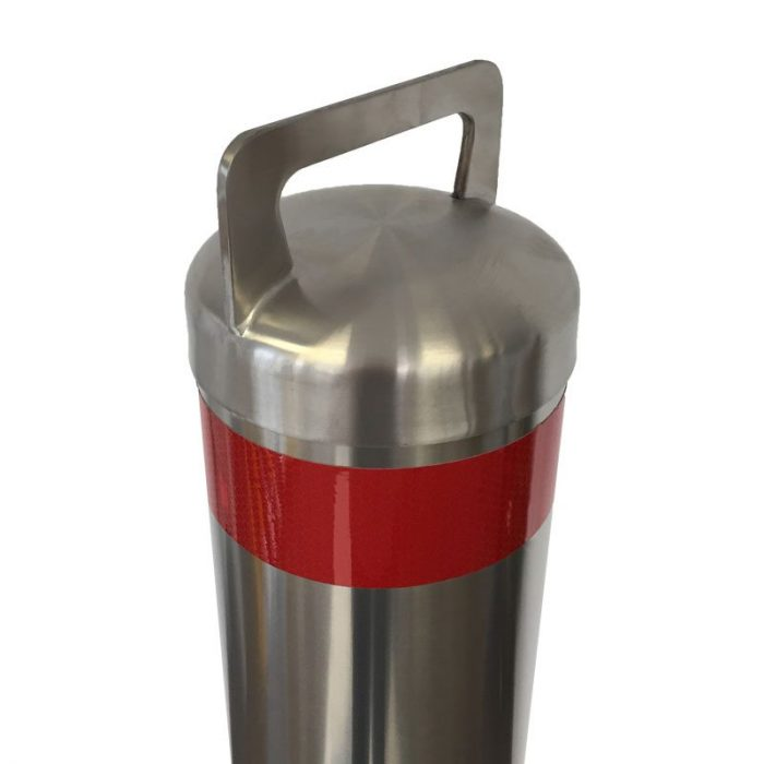 1.2m high Stainless Steel removable bollard