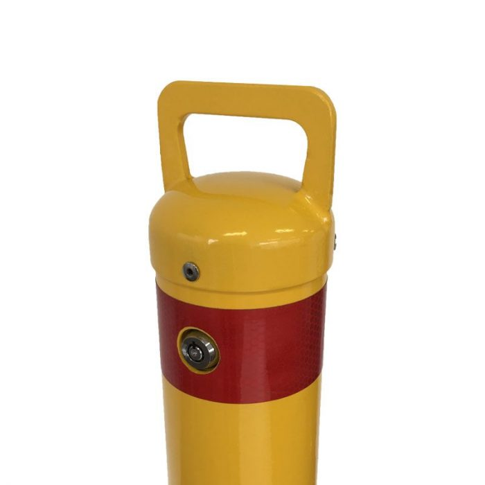 Safety Yellow surface mounted removable bollard