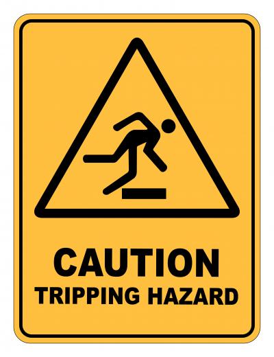 Caution Tripping Hazard Caution Safety Sign