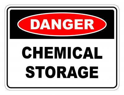 Danger Chemical Storage Safety Sign