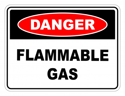 Danger Flammable Gas Safety Sign