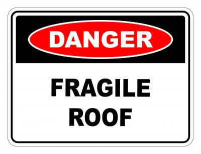 Danger Fragile Roof Safety Sign