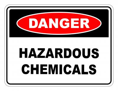 Danger Hazardous Chemicals Safety Sign
