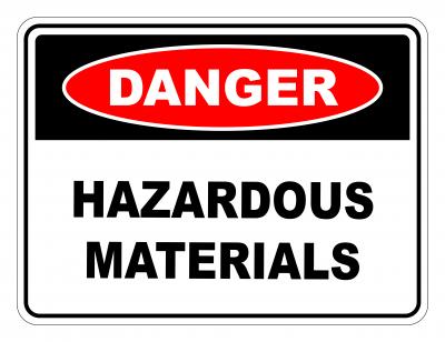 Danger Hazardous Materials Safety Sign