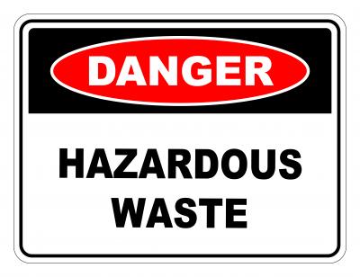 Danger Hazardous Waste Safety Sign