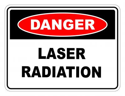 Danger Laser Radiation Safety Sign