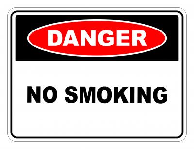 Danger No Smoking Safety Sign