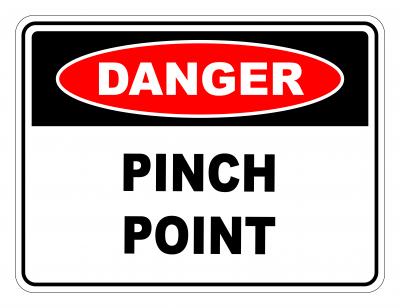 Danger Pinch Point Safety Sign