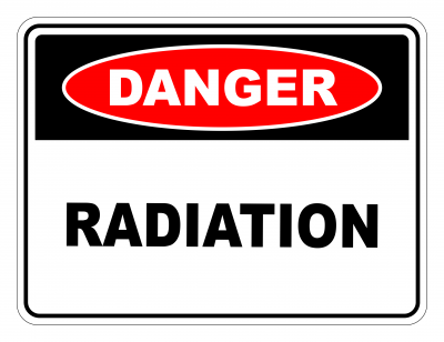 Danger Radiation Safety Sign