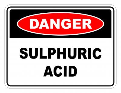 Danger Sulphuric Acid Safety Sign