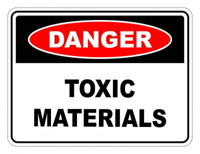 Danger Toxic Materials Safety Sign