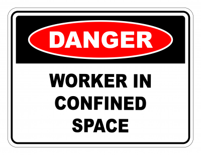 Danger Work In Confined Space Safety Sign