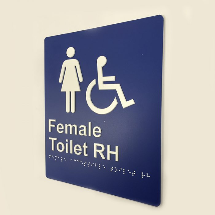blue-and-white-plastic-female-toilet-right-hand-sign