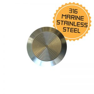 Stainless Steel Tactile Indicator Stud – Adhesive Free Spigot