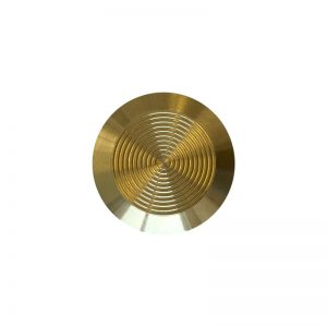 Brass Tactile Indicator Stud – Adhesive Free Spigot
