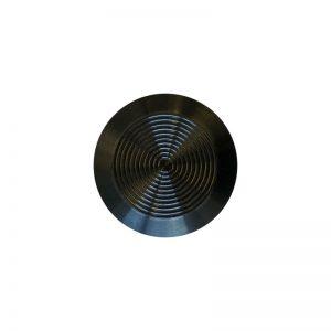 Black Anodised Tactile Indicator Stud – Adhesive Free Spigot