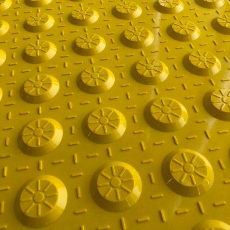 TI1103-2 - Yellow Fibreglass Access Tactile
