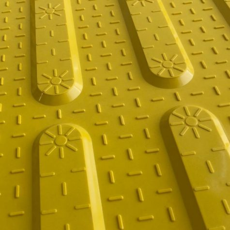 TI1106-2 - Yellow Fibreglass Access Tactile