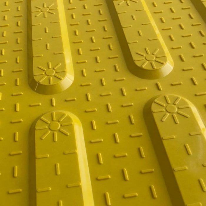 TI1106-2 - Yellow Fibreglass Access Tactile