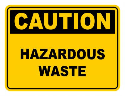 Haardous Waste Warning Caution Safety Sign