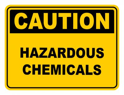 Hazardous Chemicals Warning Caution Safety Sign