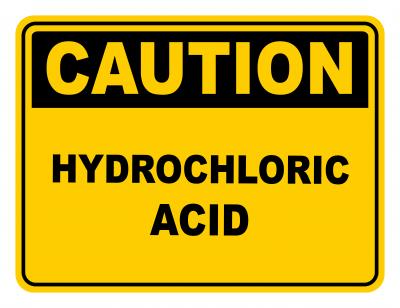 Hydrochloric Acid Warning Caution Safety Sign