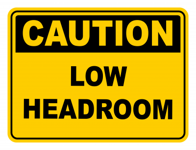 Low Headroom Warning Caution Safety Sign