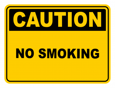 No Smoking Warning Caution Safety Sign