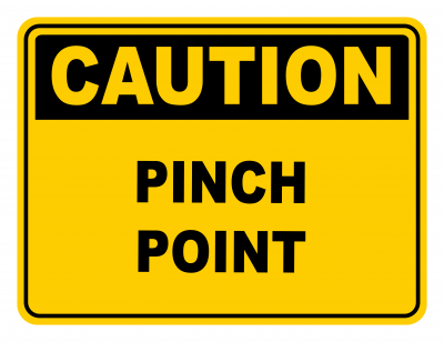 Pinch Point Warning Caution Safety Sign