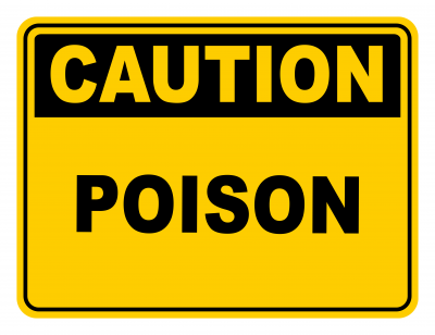 Poison Warning Caution Safety Sign