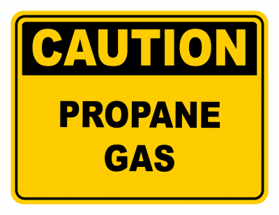 Propane Gas Warning Caution Safety Sign