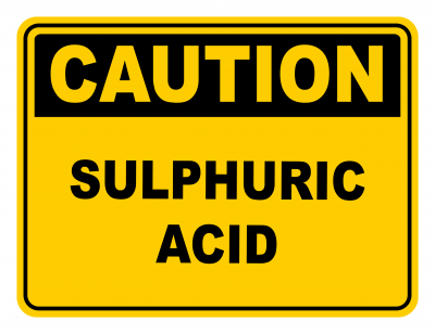 Sulphuric Acid Warning Caution Safety Sign