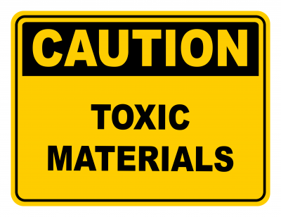 Toxic Materials Warning Caution Safety Sign