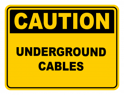 Underground Cables Warning Caution Safety Sign